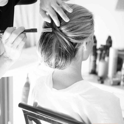 Hair up do Algarve Wedding