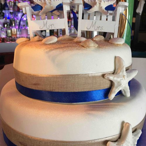 Beach theme Algarve Wedding Cake
